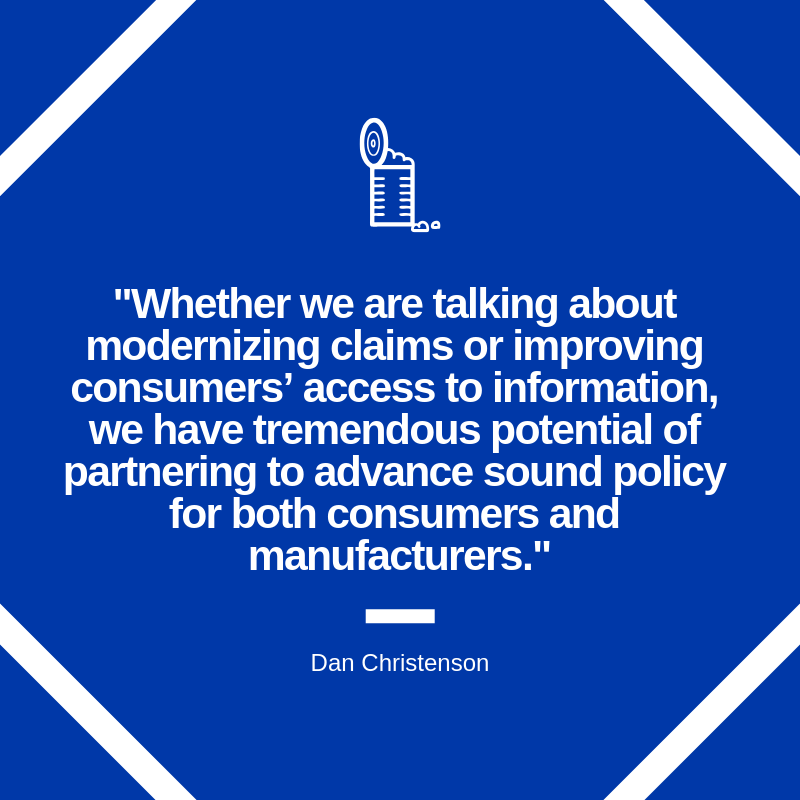 Food labeling quote graphic