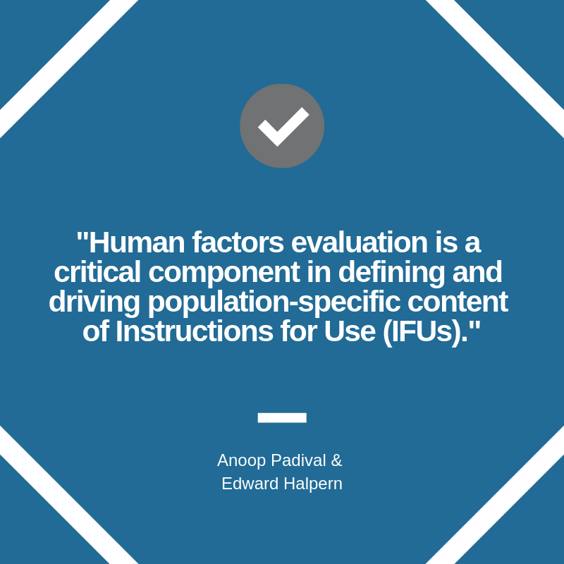 Combination product human factors quote graphic
